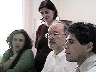 Registro histórico para a EAD Brasil Em 2000 visita do Prof. Fredric Litto (ABED) a Rede iUVB. Na foto: eu, Maria da Graça, Fredric Litto e João Vianney foto durante (São Paulo - SP)